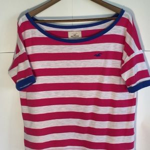 Hollister Striped Boxy Tee Fitted Short Sleeves